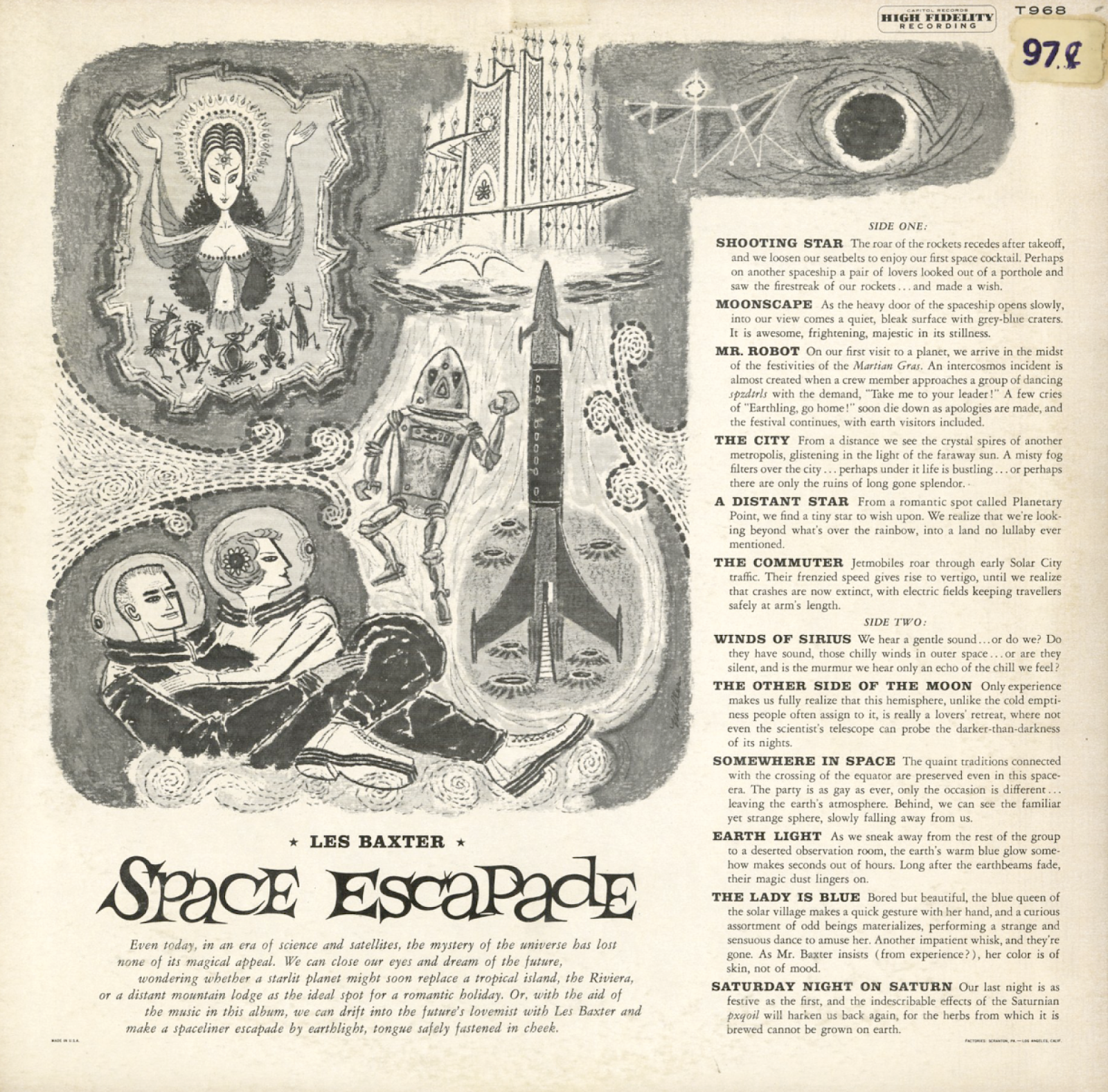 Unearthed In The Atomic Attic: Space Escapade - Les Baxter